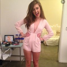 Tobi Melinda Romper Worn once.  Dust Rose fits beautifully for a night out.  Make me an offer :) Tobi Other