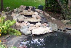 The Best Stone Waterfalls Backyard Ideas – Pool Landscape Ideas Waterfall Project, Diy Waterfall, Garden Waterfall, Waterfall Building, Pond Design, Garden Landscape Design, Water Features In The Garden, Garden Features, Ponds Backyard