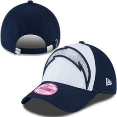 San Diego Chargers New Era Women's Glitter Glam 9FORTY Adjustable Hat - White