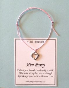 HEN PARTY Friendship Wish Bracelet by partyislandjewellery, £1.50