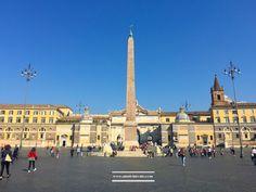 The Egyptian Obelisk in Piazza del Popolo, Rome #Rome #piazzadelpopolo #travel #visitrome #photography #square www.aladyinrome.com