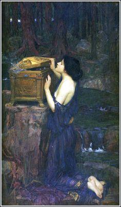 "saveflowers1:   Art by John Waterhouse (1896) - ""Pandora."""