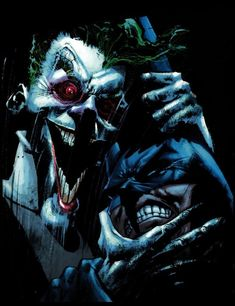Batman and Joker by Sam Kieth Comic Art, Comic Books, Dc Comics Art, Jokers, Dark Knight, Gotham, Marvel Dc, The Darkest, Mad