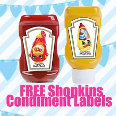 FREE Shopkins Birthday Party Printable Condiment Labels Files