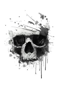 skull print/skull illustration/evil skull/concert posters/skull canvas print/skull tattoo/skull art/watercolor skull/Black grunge vector skull/Human skull on isolated white background/T-shirt Graphics Skull Tattoo Design, Skull Design, Skull Tattoos, Body Art Tattoos, Evil Skull Tattoo, Tattoo Trash, Trash Polka Tattoo, Tatuagem Trash Polka, Skull Art