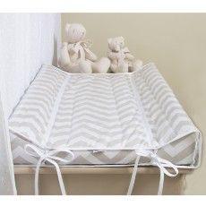 Boquinha Malha 3 Peças para Bebê Brooklyn Chevron Cinza/Amarelo - Biramar - Baby Enxoval - BabyEnxoval