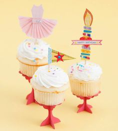 Cupcake toppers are all the rage these days. Use these cute patterns for any occasion worthy of dessert!