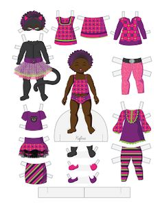 Paper Doll School: Halloween Toddler Fashion Friday - Kefira