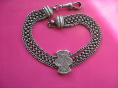 Antique Victorian Silver Watch Chain Bracelet