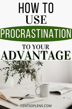 Do you struggle with productivity? Do you find yourself procrastinating a lot? Find out how you can use procrastination to your advantage and get more done in less time today! #productivity #procrastination #productivitytips #productivityhacks #getstuffdone #lifehacks