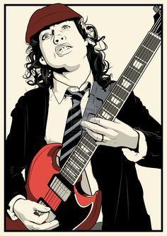Angus Young by DottGonzo.deviantart.com on @DeviantArt