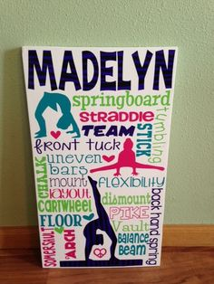Personalized Wooden Teen Gymnast Gymnastics Sign by GiftsForIt on Etsy https://www.etsy.com/listing/216924026/personalized-wooden-teen-gymnast