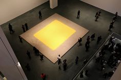 German conceptual artist Wolfgang Laib carefully harvests pollen from the areas surrounding his home and studio in southern Germany, and uses. Wolfgang Laib, Cleaning Crew, Wall Lights, Ceiling Lights, Action Painting, Installation Art, Art Installations, Museum Of Modern Art, Land Art