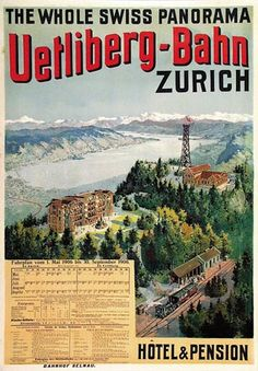 Anonym - Uetliberg-Bahn Vintage Advertisements, Vintage Ads, Fürstentum Liechtenstein, Underground Lines, Vintage Banner, Train Service, Railway Posters, Journey, Vintage Travel Posters