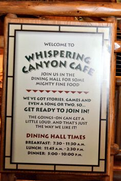 #Disney's #Whispering Canyon #Cafe #Restaurant Review http://ouramericantravels.com/whispering-canyon-cafe-at-disney/