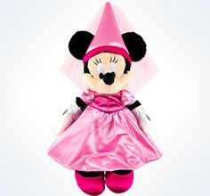 """Disney Parks Authentic Minnie Mouse Princess 15"""" Plush New With Tags"""