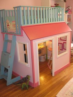 Dreaming of a loft bed for Vanessa. Scouting out a workable design.