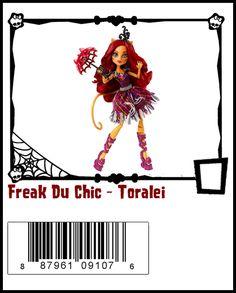 Freak Du Chic-Monster High Doll Checklist