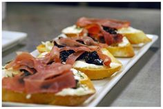 Proscuitto Red Wine Fig Compote with Goat Cheese Crostini, piccolo chef party by *BoLA, via Flickr