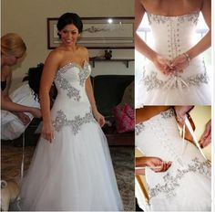 2014 Crystal Wedding Dresses Pnina Tornai A-Line Sweetheart Bling Bling Beaded Lace Up at Back Court Train Bridal Gowns $158.00