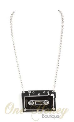Awesome Cassette Tape Necklace