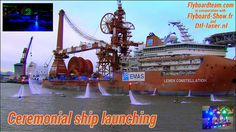 Ship launching with Champagne on 28 feb 2015 Rotterdam.   Lewek Constellation 180x50 meters