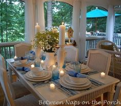 9 Great Features for a Screened-In Porch -- Lots of seating, Roomy enough for friends and family, A place to dine, No Mosquitoes or bugs getting in, Soft lighting for evening time, Ceiling Fans -- This person even added a china cabinet and some lamps -- Check out the pics! 6. Music