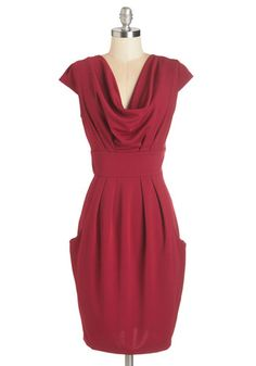 Sway Attention Dress. Guests are sure to take notice when you glide into the room wearing this ruby-red dress! #gold #prom #modcloth