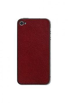 iPhone 4/4S Crimson Leather Back