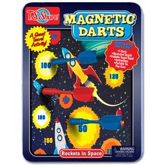 TS Shure Rockets in Space Magnetic Dart Game Tin Darts Game, Interactive Learning, Carnival Games, Toys Online, Small Art, Beauty Box, Home Gifts, Tin, Rockets