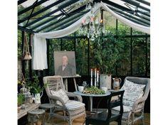 jardin deco gustavienne | La magie d'un Noël blanc