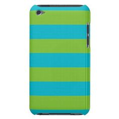 Teal Horizontal Stripes Choose Accent Color Barely There iPod Case - girly gifts girls gift ideas unique special