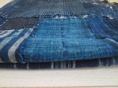 Antique Japanese Indigo Boro Textile Large - Heavy Patchwork $300aud www.naturecollect.com