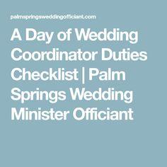Day Of Wedding Coordinator | Day Of Wedding Coordinator Duties Checklist Wedding Coordinating
