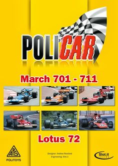 Slot cars, Policar to release classic F1s, Lotus 72, March 701 and March 711