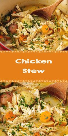 Chicken Stew - New Ideas Stew Chicken Recipe, Grilled Chicken Recipes, Baked Chicken Recipes, Chicken Meals, Soup Recipes, Dinner Recipes, Cooking Recipes, Healthy Recipes, Cooking Time