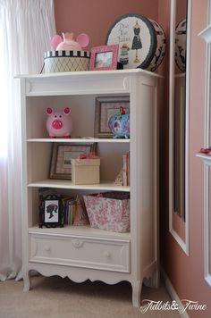 Little Girl Room; love the re-purposed dresser