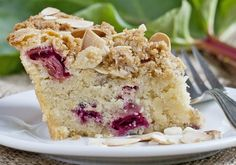 Rhubarb Coffee Cake - Recipe - The Answer is Cake