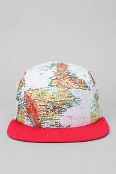 World Maps 5-Panel Hat  #UrbanOutfitters