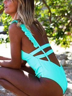 2019 Sexy Off Shoulder Swimwear Women Swimsuit Print Solid One Piece Swimsuit Ruffle Bathing Suit Beach Backless Monokini Swim Monokini Push Up, Monokini Swimsuits, Bikini Swimwear, Bikini Beach, Bikini Set, One Shoulder Swimsuit, Ruffle Swimsuit, Floral Swimsuit, Beachwear For Women