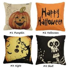 43x43cm 4 Pattern Halloween Fashion Cotton Linen Pillow Case Home ... ($10) ❤ liked on Polyvore featuring home, home decor, pillows, array0x16331d40 and halloween home decor