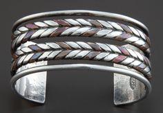 Cuff |  William Spratling.  Sterling silver and copper.  ca. 1950