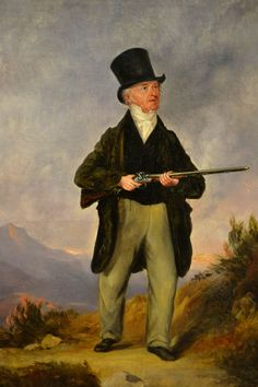A Sportsman Walking up Grouse, with his Double Barreled, Flint Lock Shot Gun | Artware Fine Art
