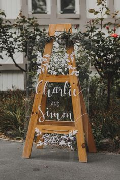perspex wedding welcome sign