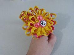 Como hacer facil  flor tela organza, Organza Bows - YouTube
