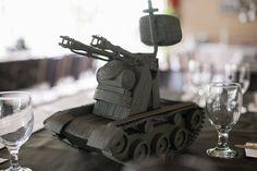 Tank Table Centerpiece from an Army Themed Birthday Party via Kara's Party Ideas   KarasPartyIdeas.com (19)