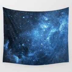 Blue Galaxy Print Tapestry! Perfect addition to a sky themed room