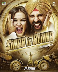 Singh is Bling - A roller coaster of laughter. I saw this movie on my D2H for 40 times after watching it on big screen. Prabhudeva proves in every film that he is a perfect director as a perfect dancer. My 3 year old junior loved it, she acts like Sara (Amy). Lara Dutta and Akshay rocks…loved every scene of both Lara and Akshay.