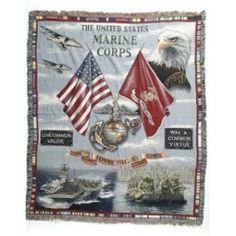 Land, Sea and Air Throw Blanket [ eMarinePX.com ] #eMarine #USMC #Marine