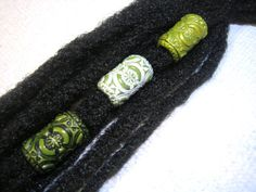 Dread Beads Choice of Olive Embossed Dreadlock by LuvingYourLocks :: Shop DreadStop.Com for Leather Dreadlock Cuffs, Ties & Dread Beads Dreadlock Accessories, Natural Hair Accessories, Dreadlock Beads, Dread Beads, Red Dreads, Bijoux Diy, Pretty Hairstyles, Emboss, Peridot